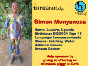 Sponsor Child 2015 (Simon)