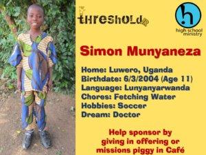 Sponsor Child 2015 (Simon)