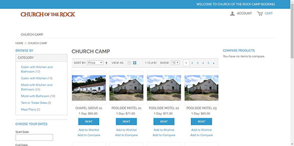 camp booking page