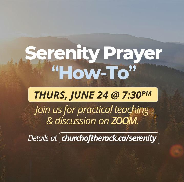 """WSC – Serenity Prayer """"How-To"""" June 24"""